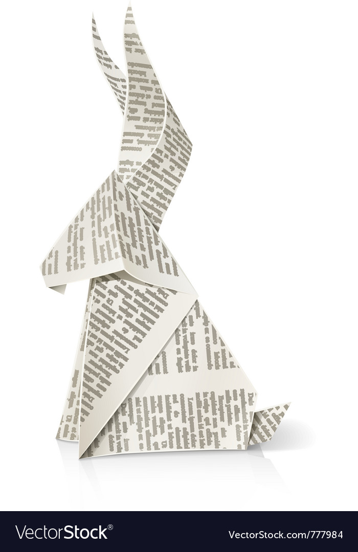 Rabbit Paper Origami Toy Royalty Free Vector Image