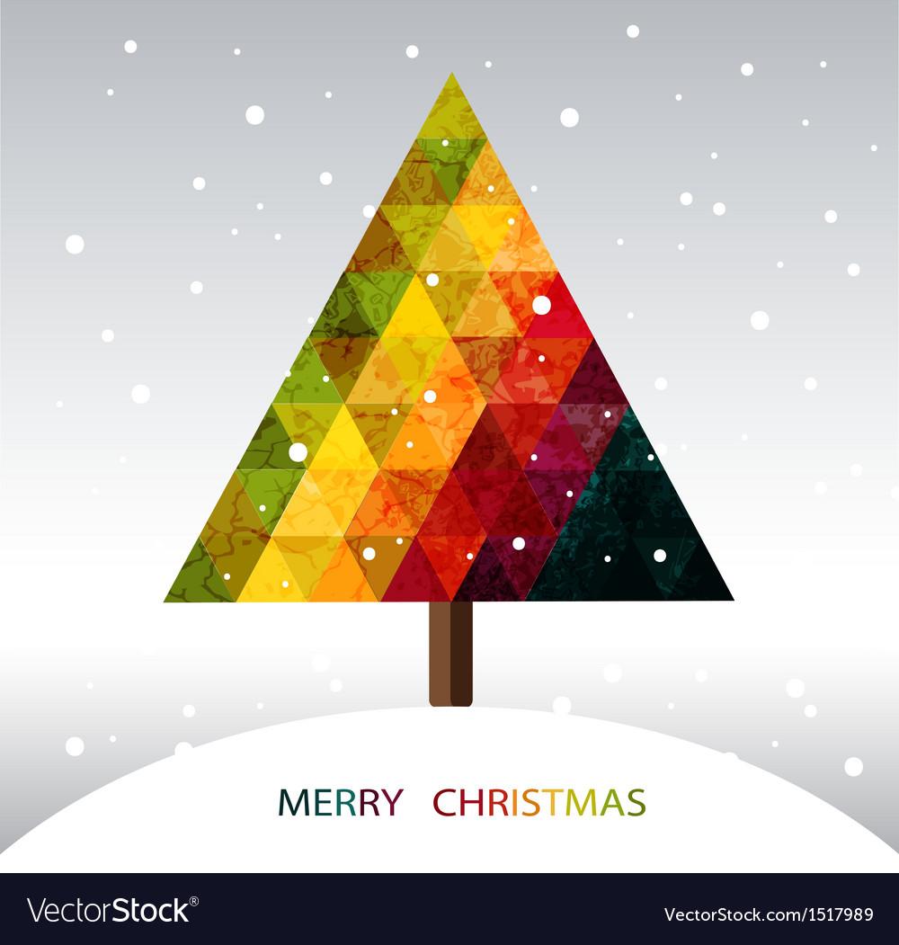 Colorful geometric Christmas tree