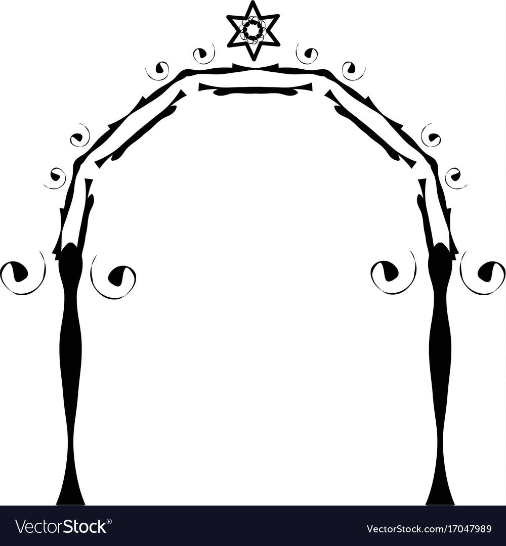 Graphic chuppah arch jewish wedding canopy vector image