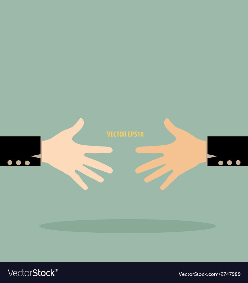 Handshake vector image
