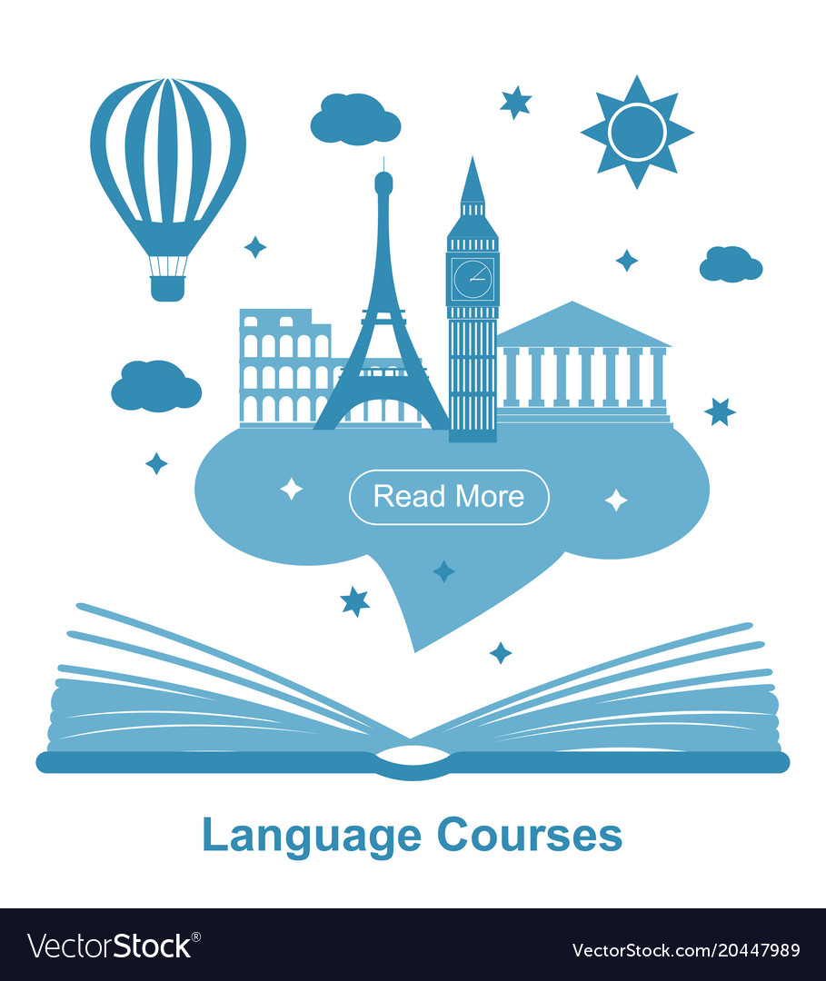 Language courses poster