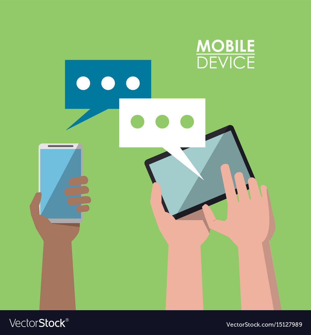 Light green poster mobile device with