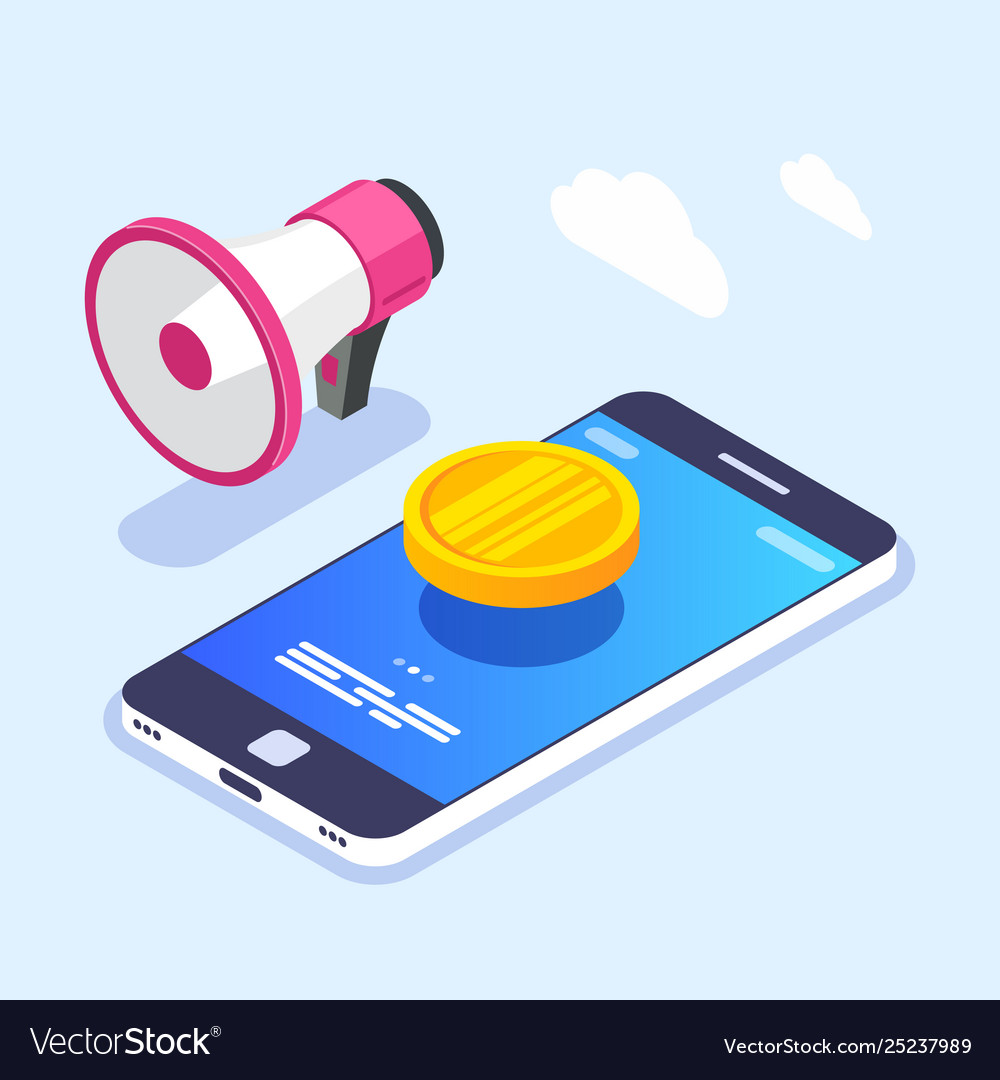 Money notification on mobile device screen gold