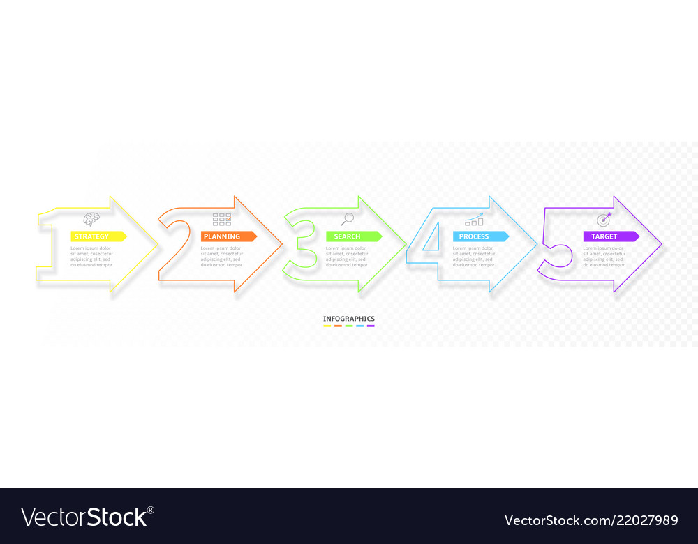Set minimal infographic options vector