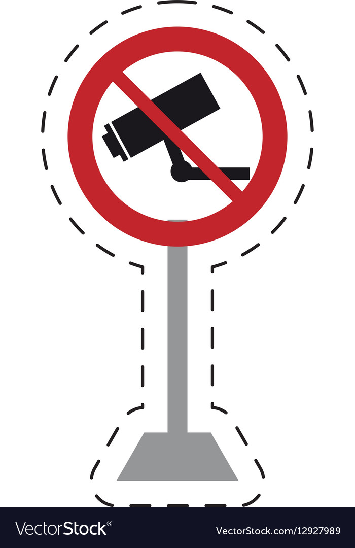 Traffic prohibited camera surveillance security vector image