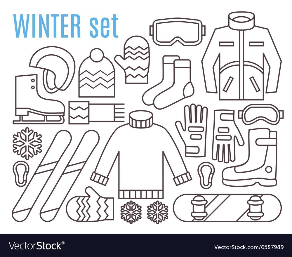 Winter sport activities vector image