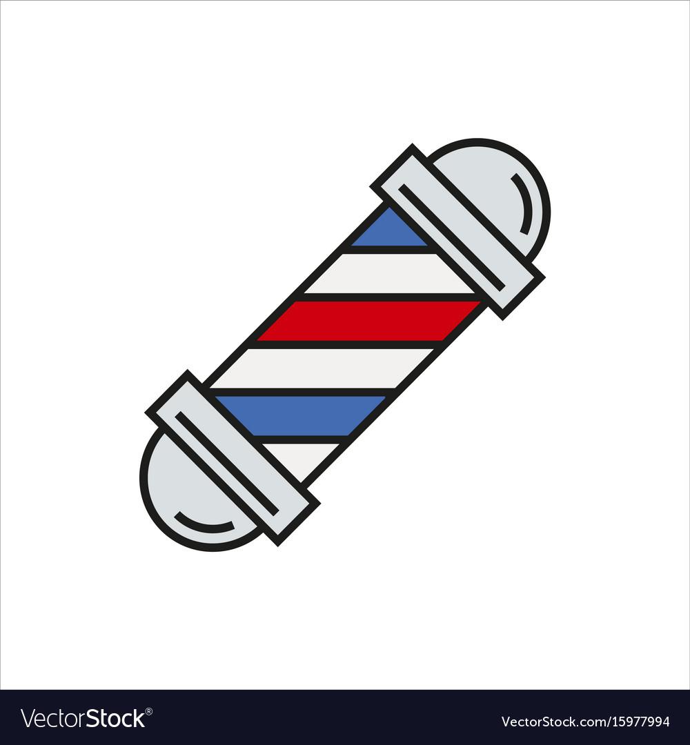 Barbershop element icon on white