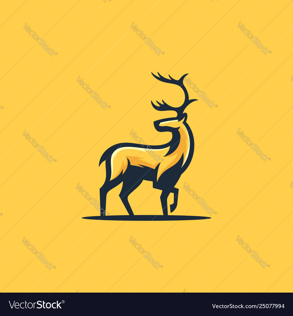 Caribou concept design template vector