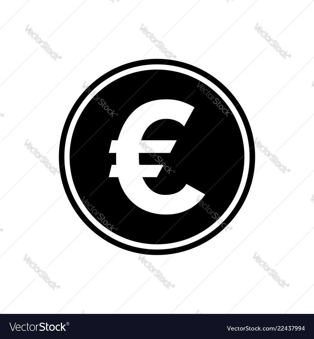 Euro round flat icon currency icon