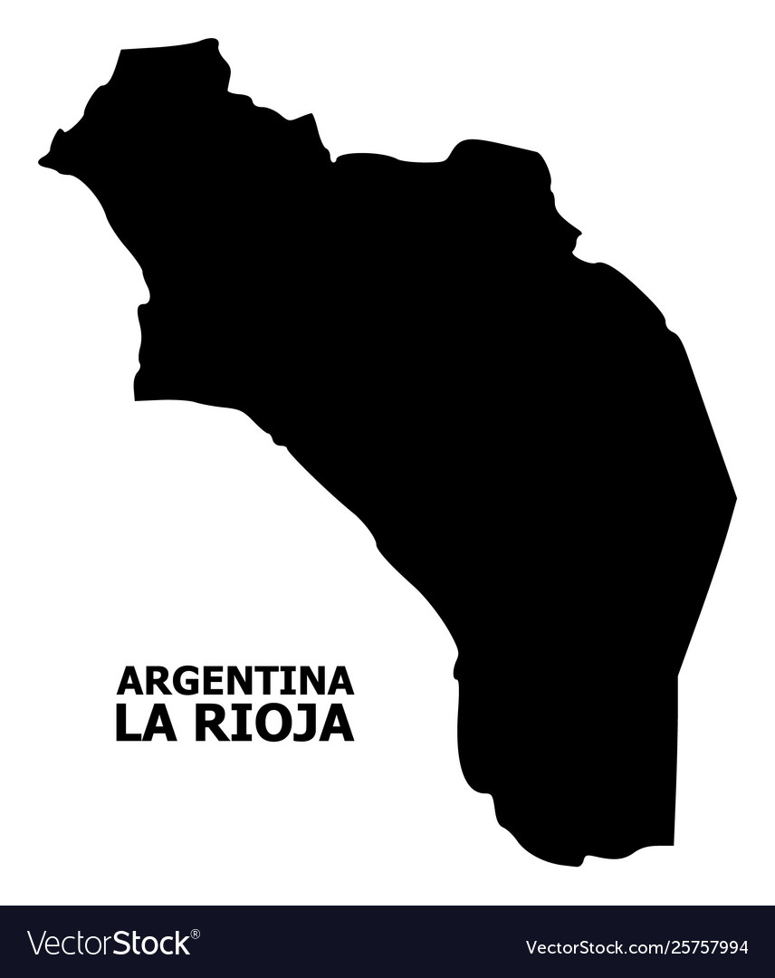 Flat map argentina - la rioja with name