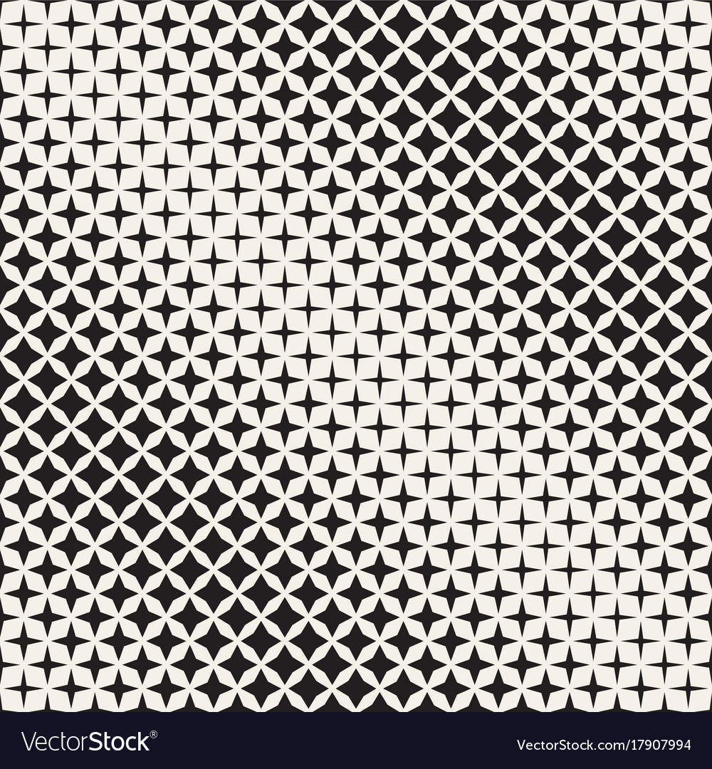 Geometric seamless star shapes pattern halftone