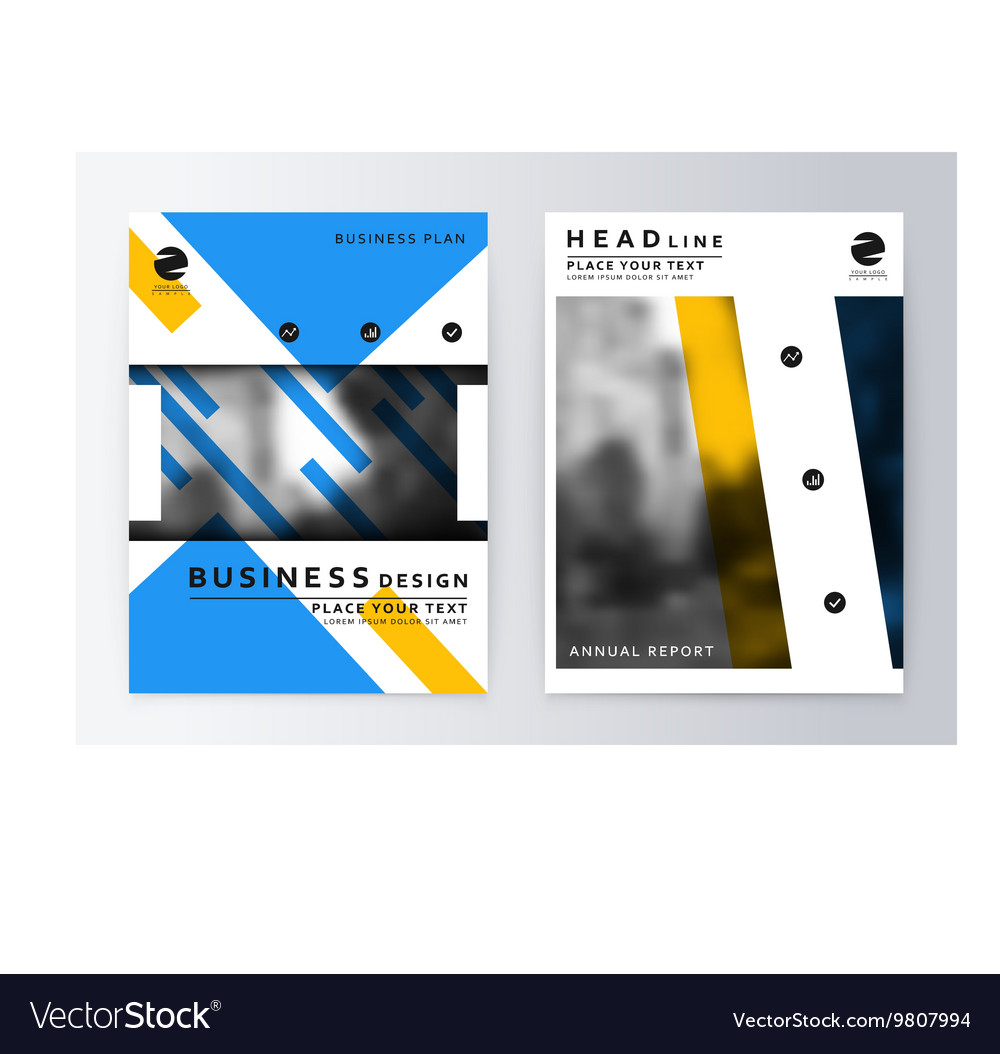 Layout design template vector image
