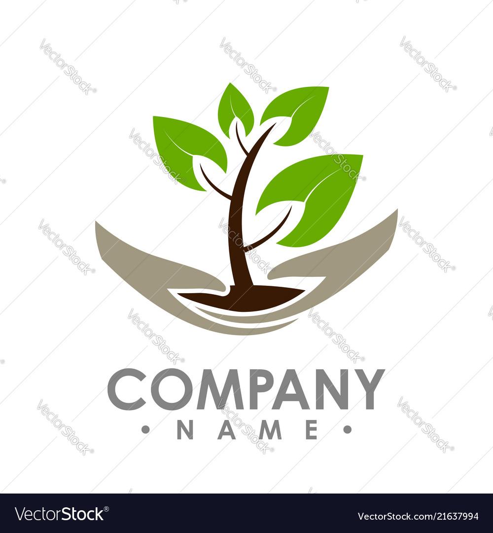 Logo of green leaf ecology nature element icon