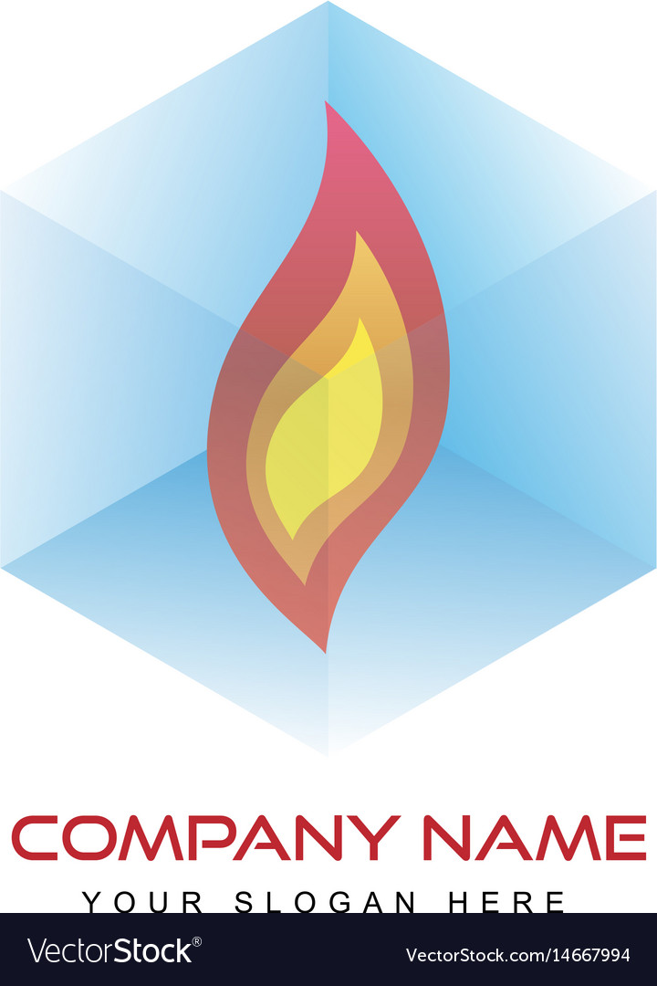 Logo template - fire in
