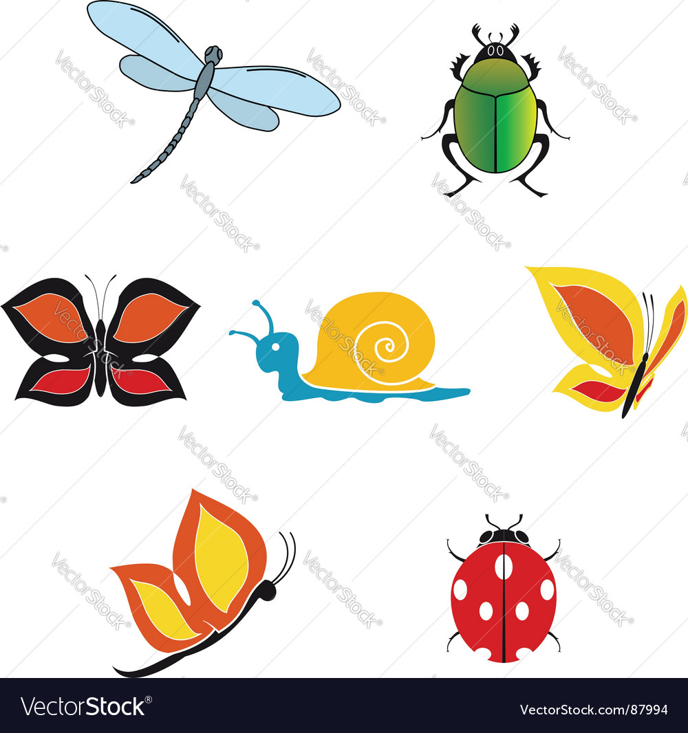 Set insect icons