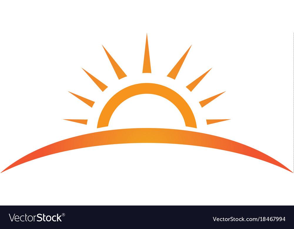 Sun Logo And Symbols Star Icon Web Royalty Free Vector Image