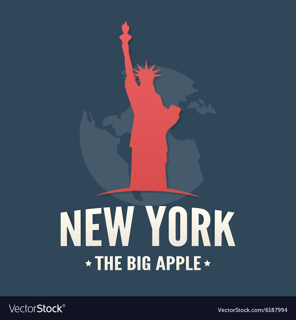 Typography poster of NYC and Statue of Liberty