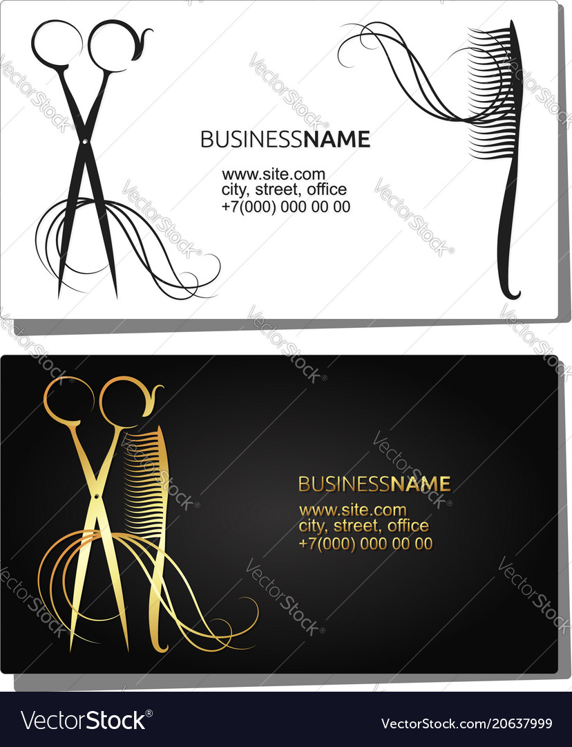 Beauty salon business card royalty free vector image beauty salon business card vector image reheart Choice Image