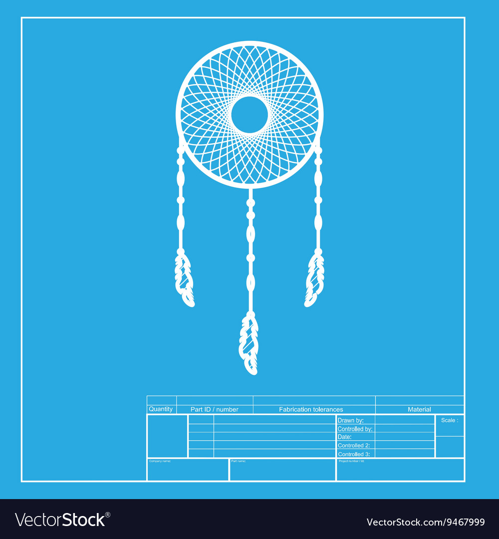 Dream catcher sign White section of icon on