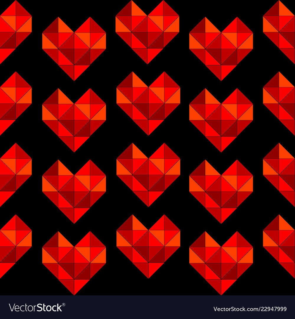 Geometrical hearts made of triangle seamless