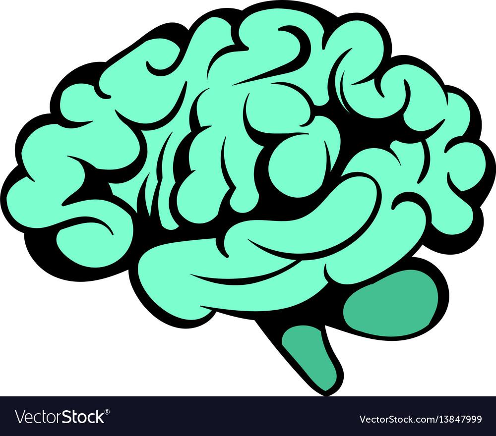 Human brain icon icon cartoon