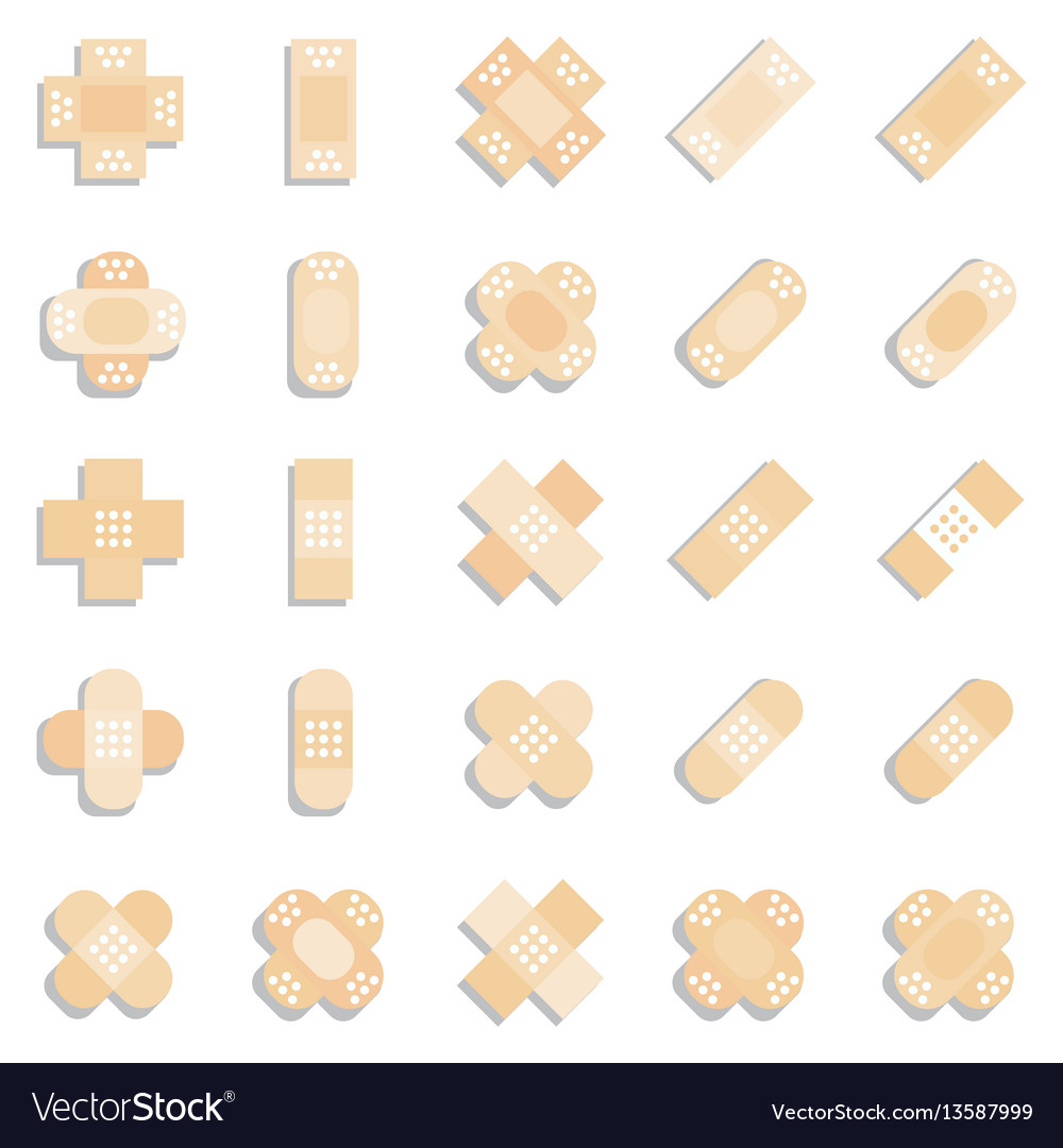 Plaster or band aid icon medical patch symbol