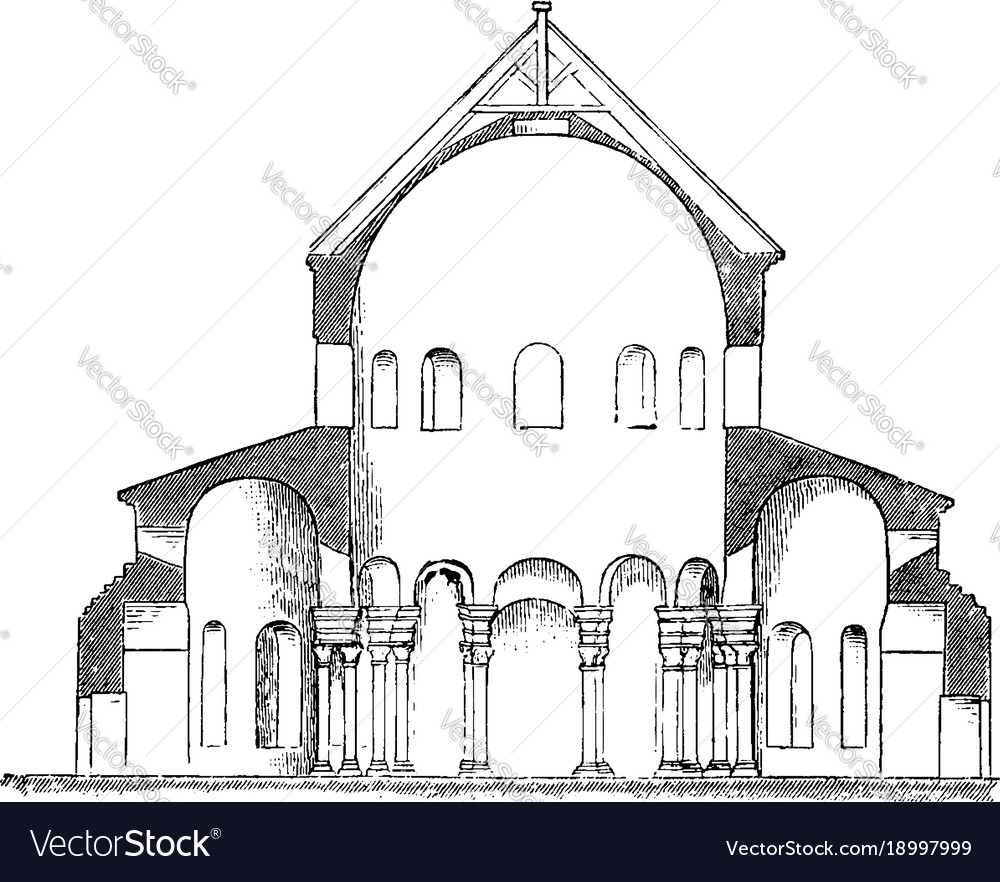 santa costanza section of the church of s vector image