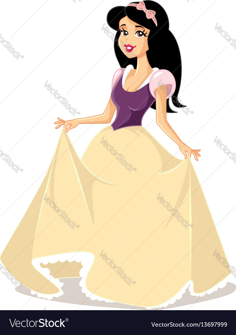 snow white princess character royalty free vector image