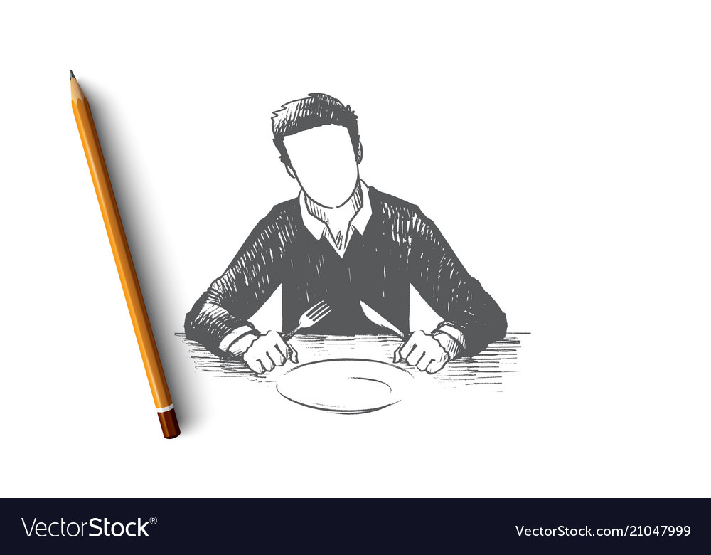 Waiting concept hand drawn isolated vector image
