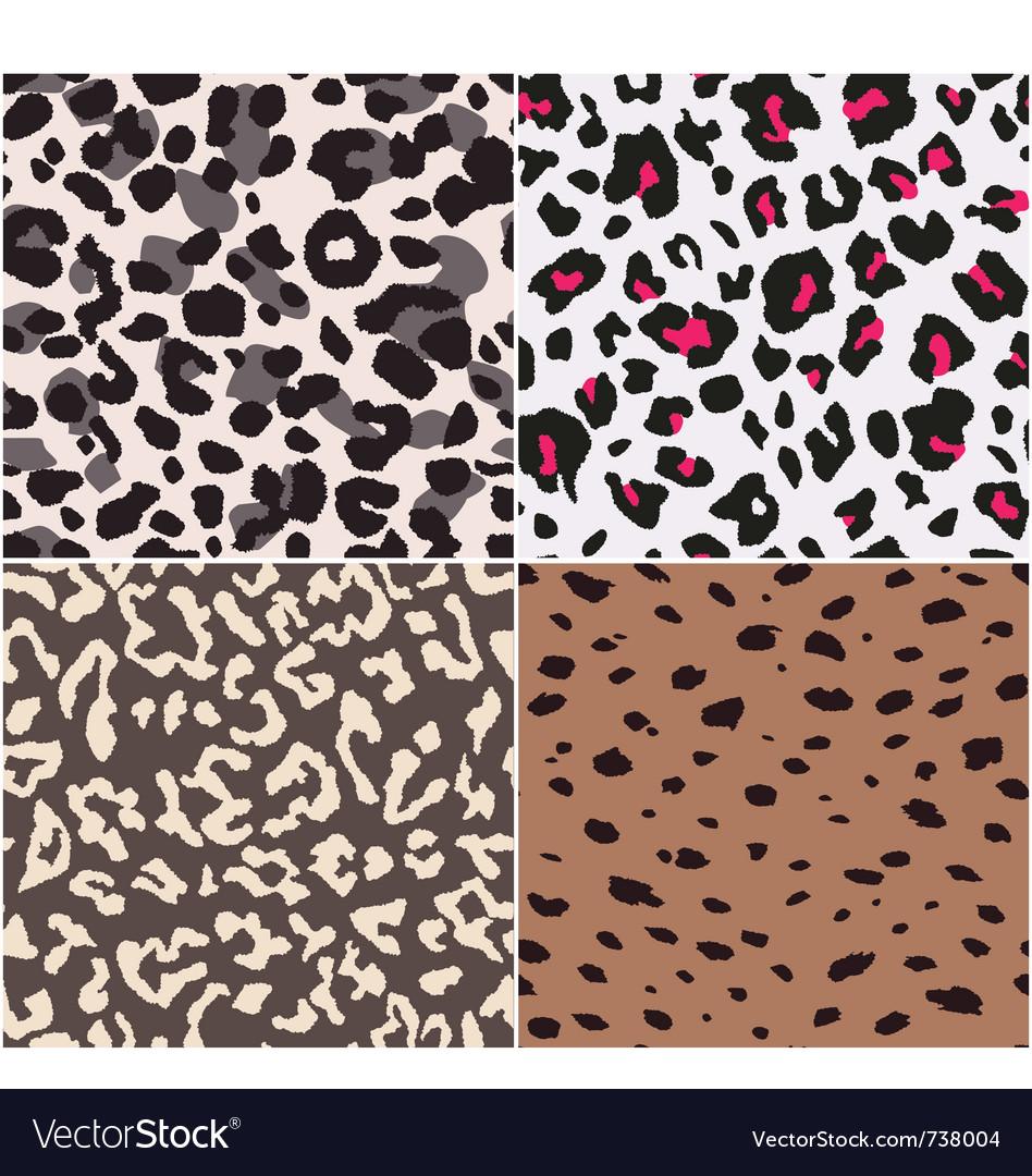Animal skin textures vector image