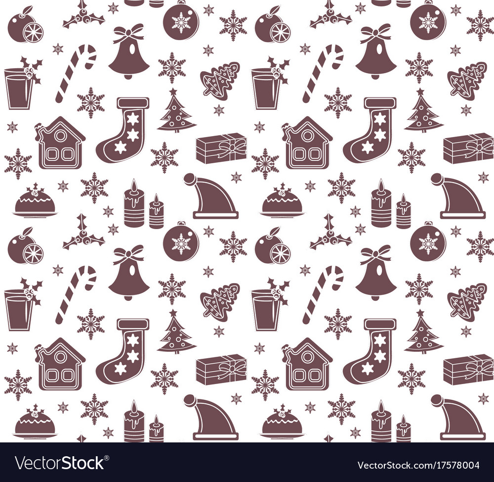 Christmas seamless pattern new year endless