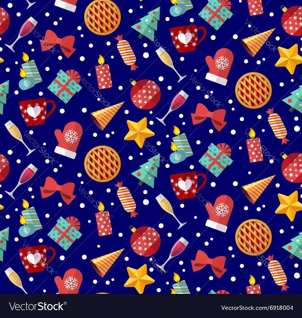 Cute christmas seamless pattern flat designed