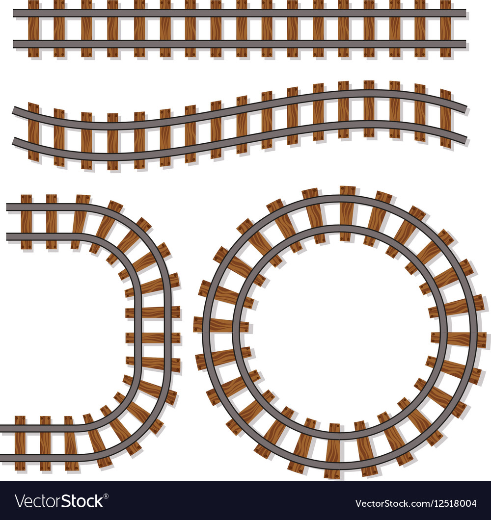 Passenger train rail tracks brush railway