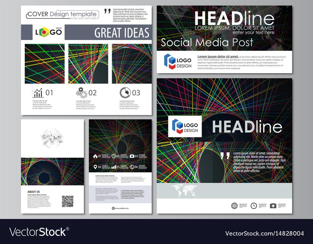 Social Media Post Template | Social Media Posts Set Business Templates Easy Vector Image