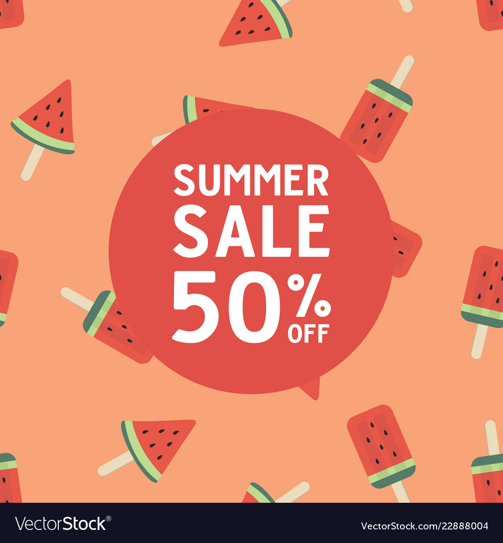 Summer sale with watermelon ice cream