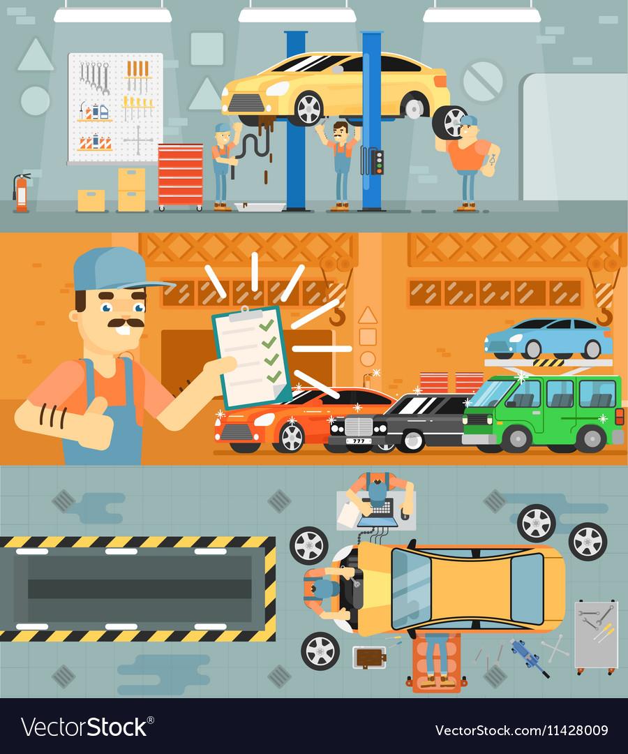 Car repair service concept banner