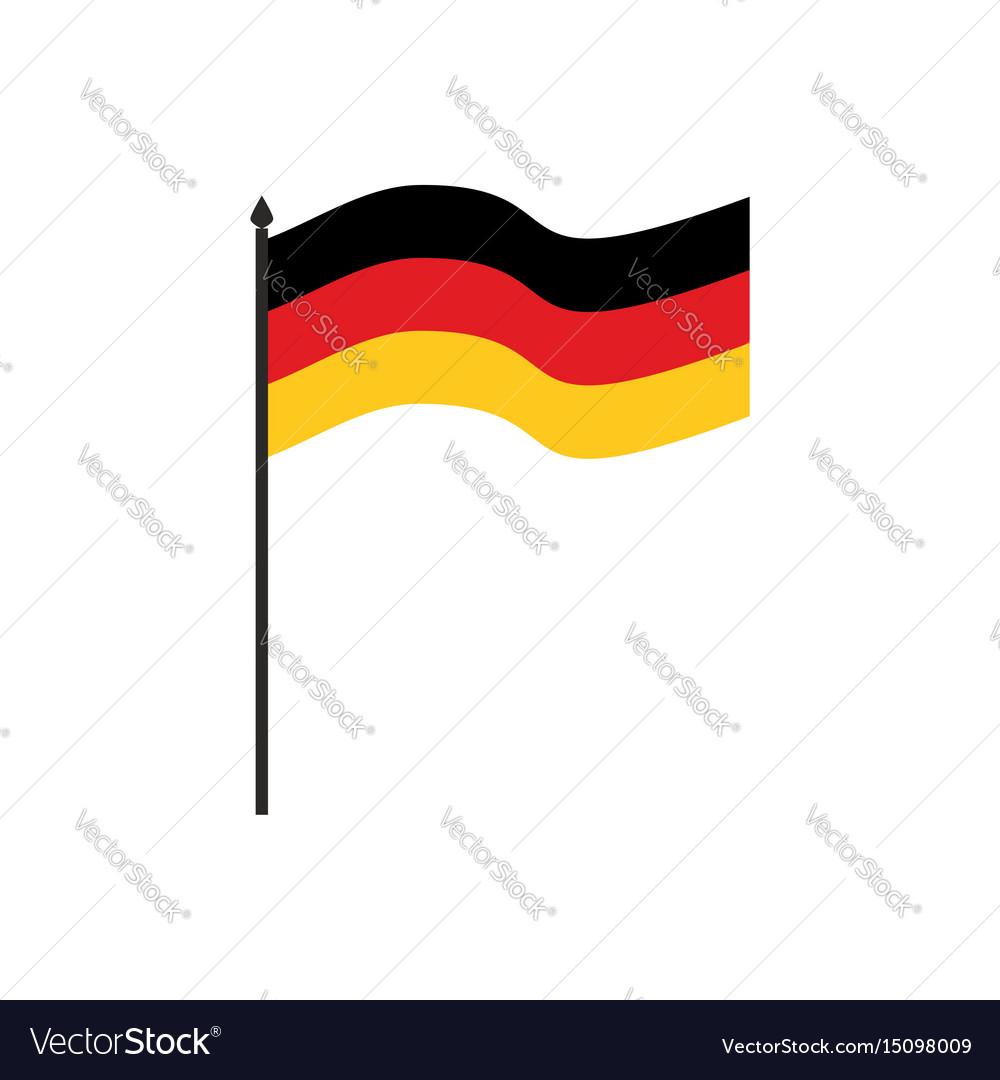 Germany flag cartoon style isolated on white