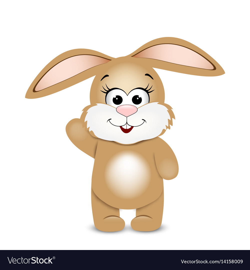 Happy easter funny bunny vector image