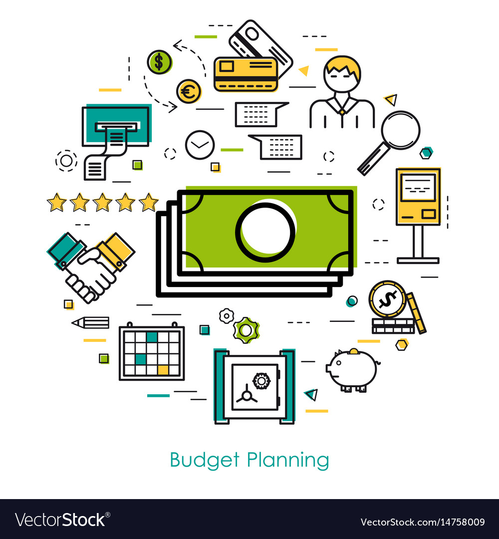 money control and budget planning royalty free vector image