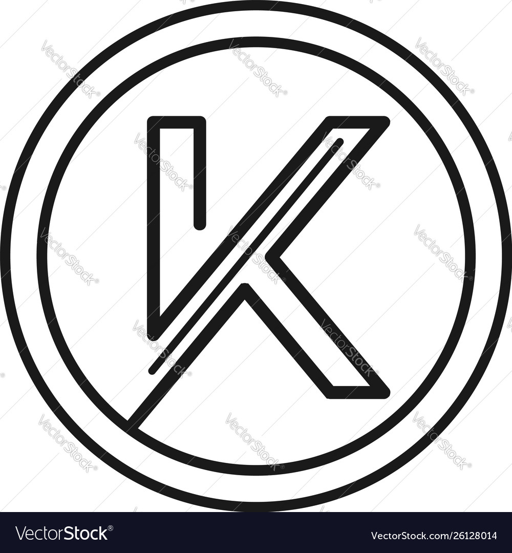 Abstract letter k line art logo sign symbol icon