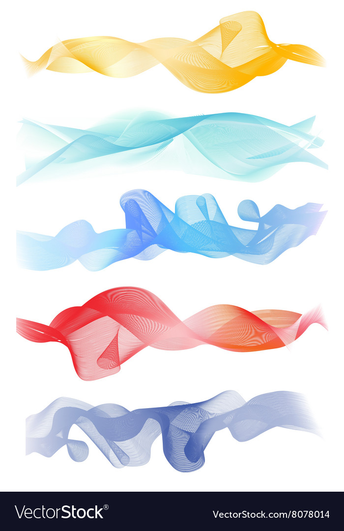 Beautiful Blue Smoke Waved Background vector image
