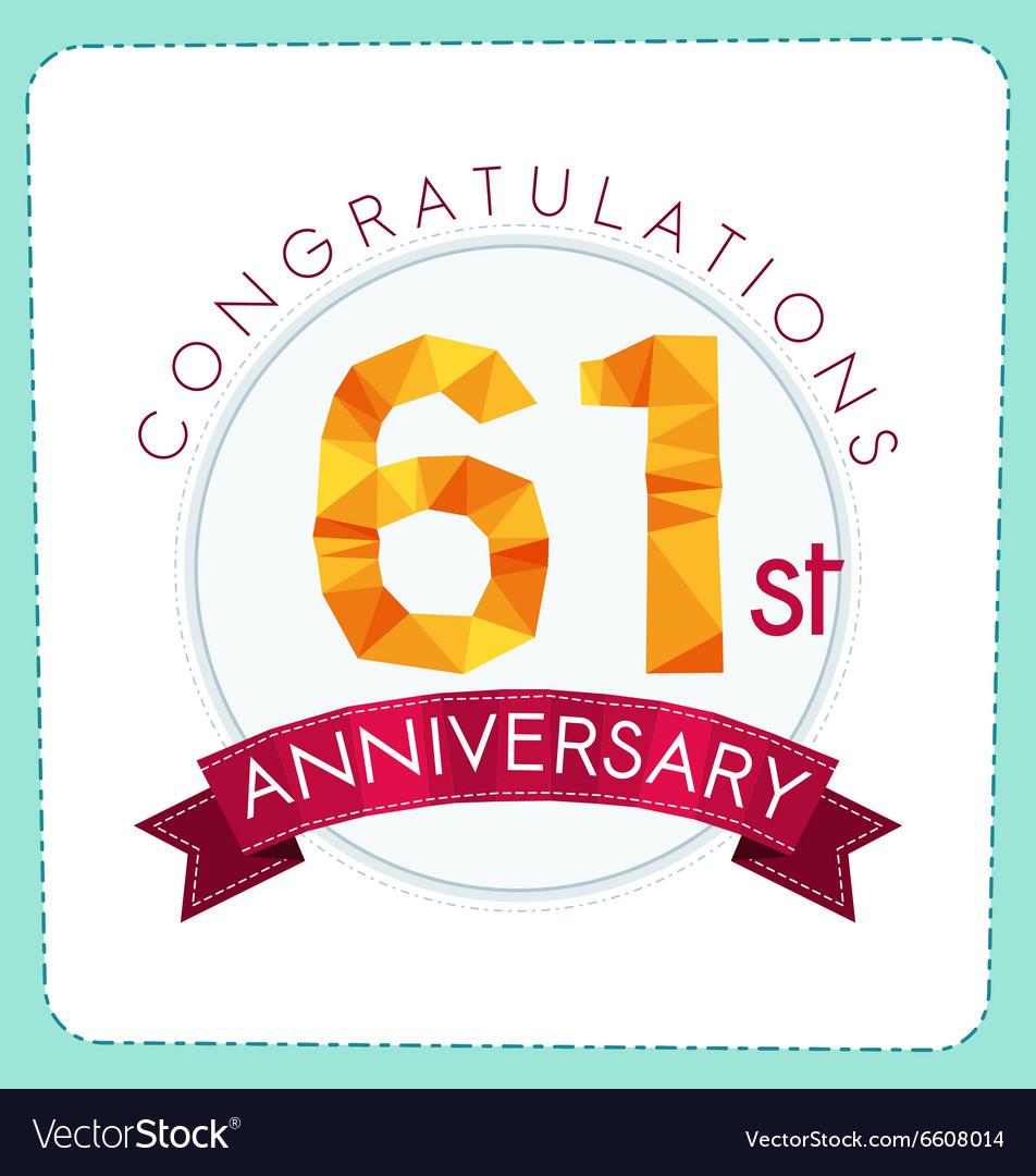 Colorful polygonal anniversary logo 3 061