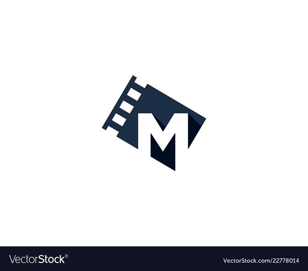 ad6d9fb2834 Film letter m logo icon design Royalty Free Vector Image