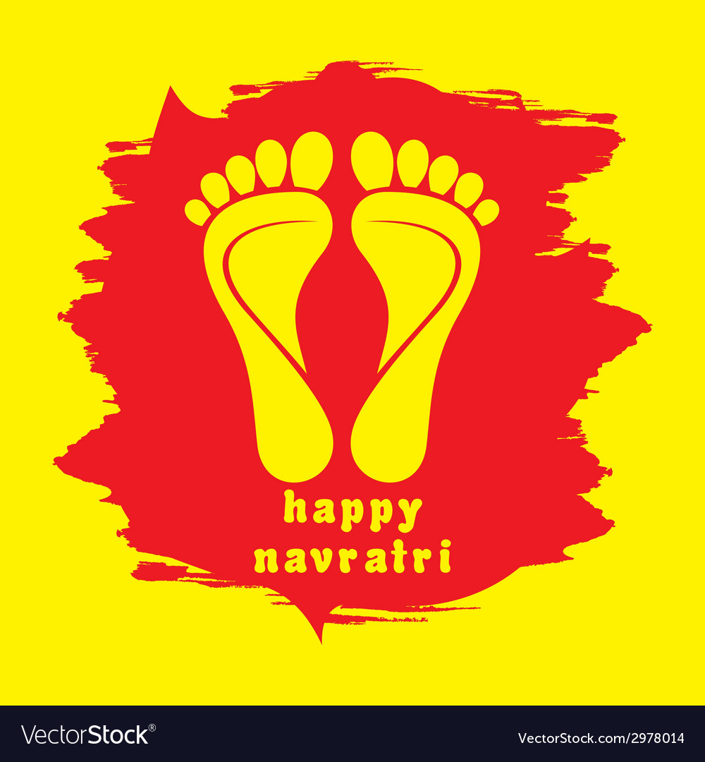 Happy diwali or navratri festival greeting vector image m4hsunfo
