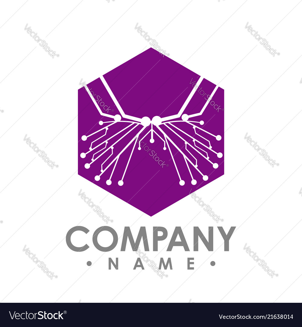 Hexagon Circuit Board Isolated Simple Abstract Vector Image Build A Images Of
