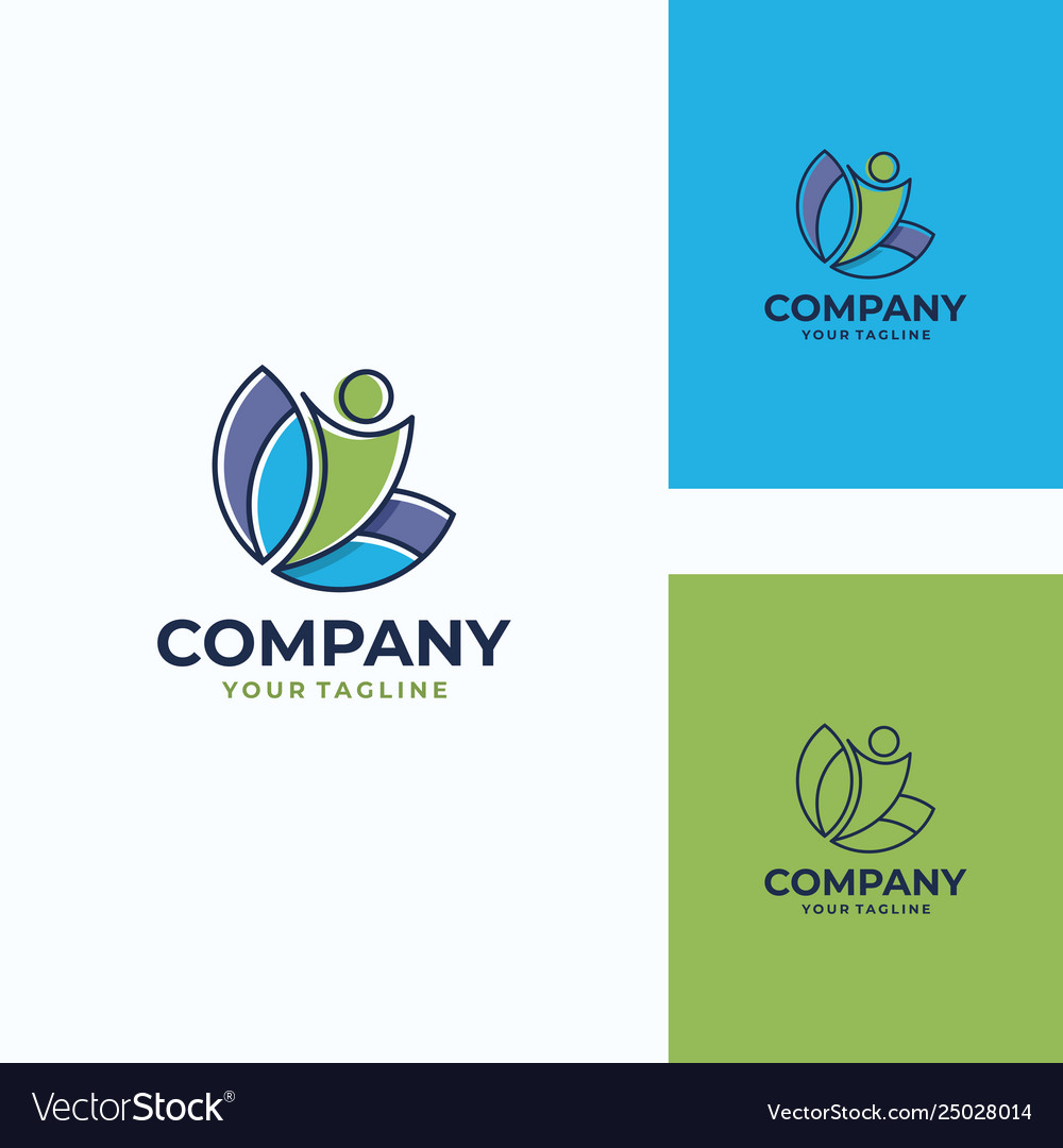 Pleasant human logo template