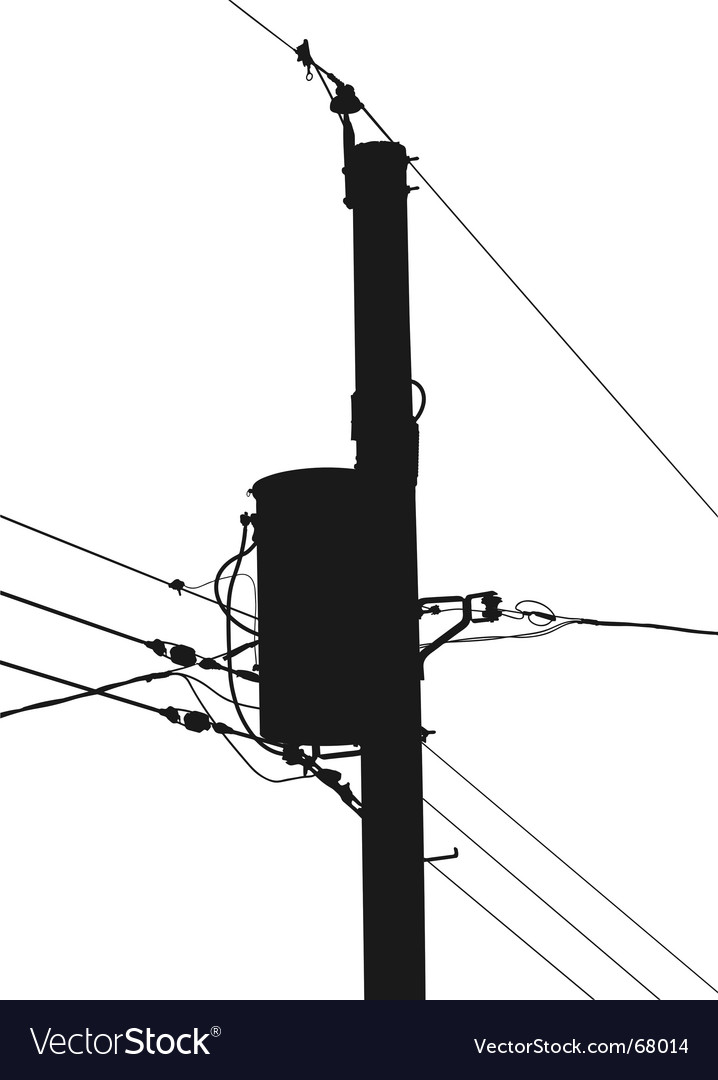 Power pole silhouette vector image