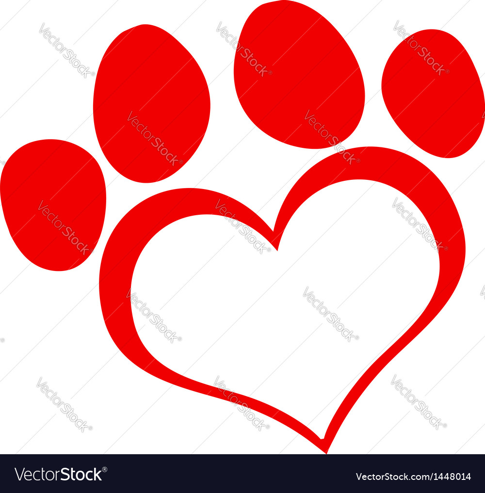 Cat Paw Print Vector Free Download