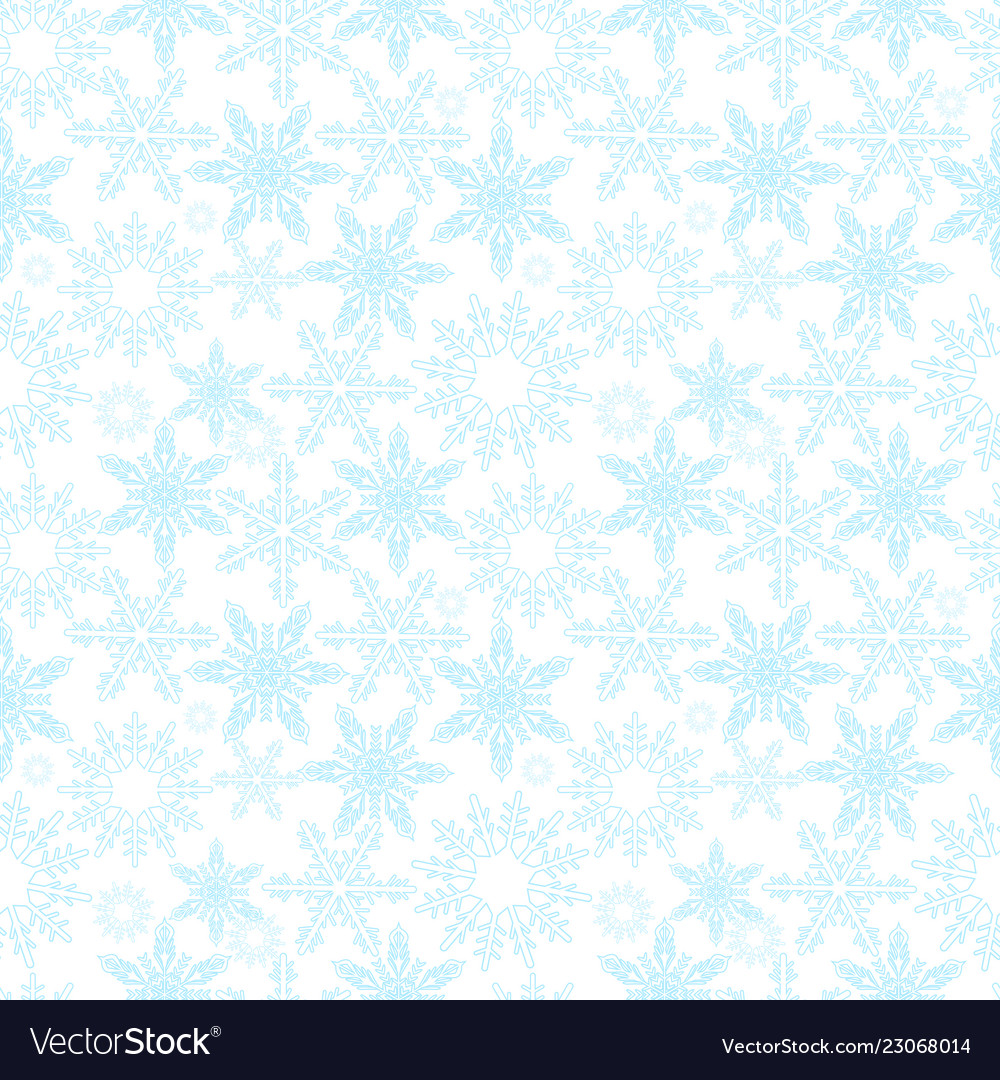 Snowflakes seamless pattern new years snow