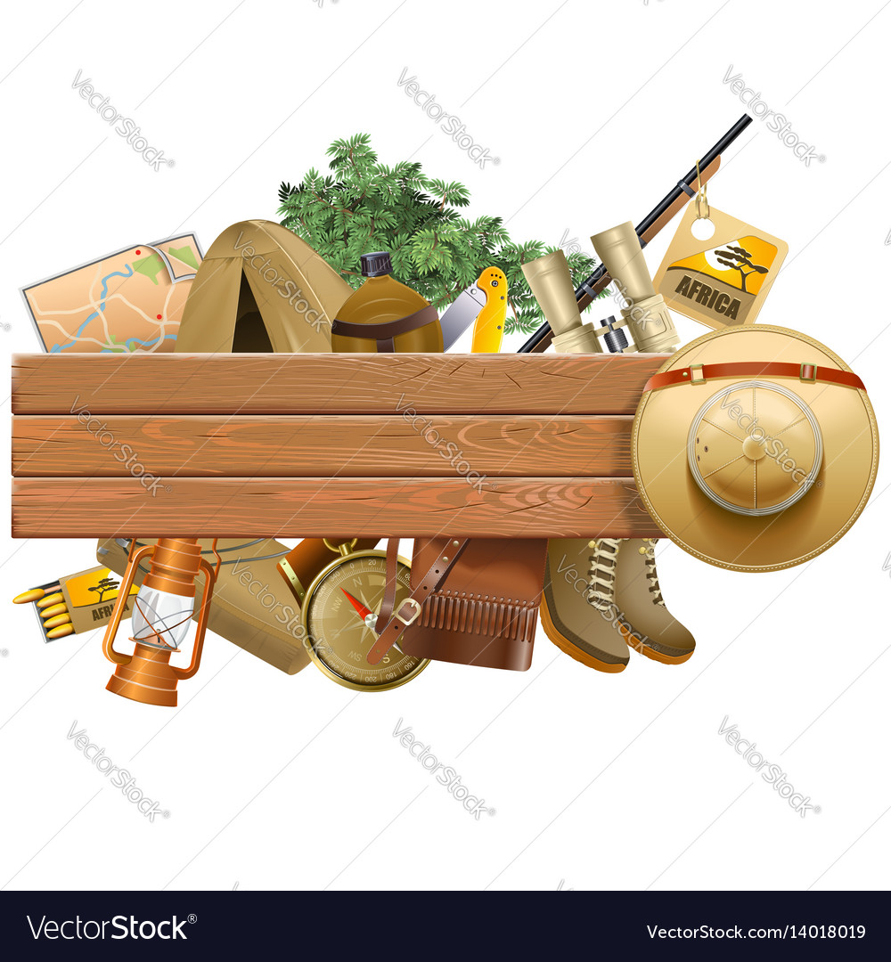 Board with safari hat